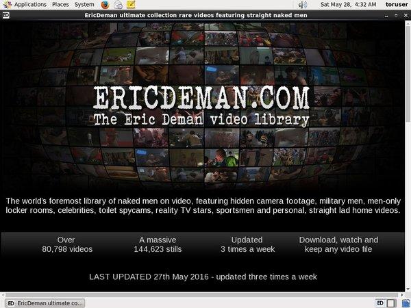 Eric Deman Premium Login