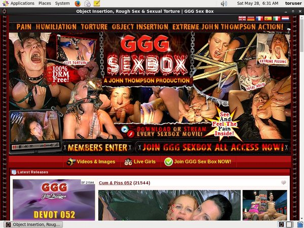 GGG Sex Box Registration Form