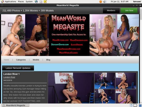 Mean World Website Password