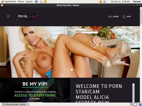 Alicia Secrets Discount Membership