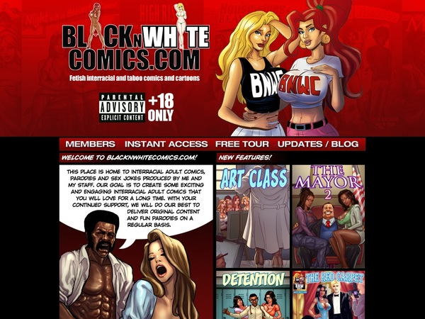Black N White Comics Free Trial Pass