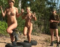 Lesbian Army military exercises