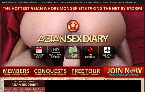 Free Accounts To Asiansexdiary.com
